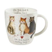 Alex Clark The Good The Bad & The Furry China Mug
